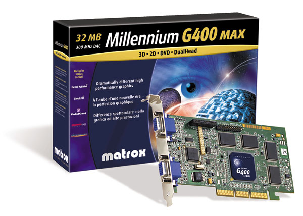 MATROX G400 DUAL HEAD DRIVER DOWNLOAD