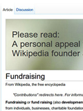 Wikipedia Fundraising Efforts End at US$20 million