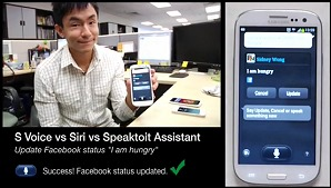 S Voice, Siri and Speaktoit Assistant - Three Voice App Musketeers