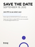 HTC Holding Event on 19 September in New York