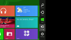 Navigating Windows 8 - Charms