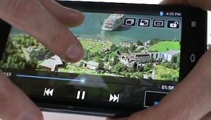 LG Optimus G Demoed with Live Video Zoom and QSlide Features
