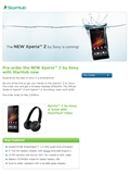 StarHub Ups the Ante with Pre-orders for the Sony Xperia Z (Update)