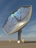 IBM Prototypes Solar Collector Dish with Liquid Cooling System