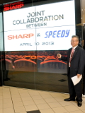 Sharp Collaborates with Speedy to Introduce a Video Wall to Concept Store