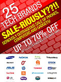 SALE-RIOUSLY Warehouse Sale Offers up to 70% Discount on Tech Brands