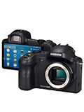 The Samsung Galaxy NX is an Android-running Mirrorless Camera