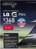SingTel Starts Pre-Orders for LG G Flex Today from 9AM, First Delivery from 18 Dec