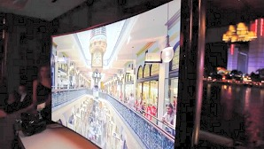 Demo: Samsung's 85-inch Bendable 4K TV