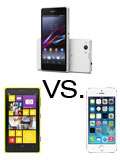 Specs Compared: Sony Xperia Z1 Compact vs. Apple iPhone 5S vs. Nokia Lumia 1020