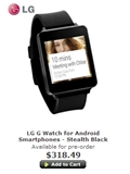 LG G Watch Available for Pre-Order in Singapore, Estimated Delivery on July 9