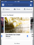 Facebook's Save feature lets you view stuff later