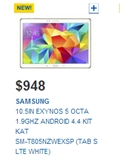 Prices of Samsung Galaxy Tab S Tablets Revealed on Courts Singapore's Website