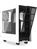 The NZXT S340 is a compact mid-tower PC case made up of mostly steel