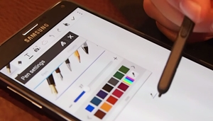 S Pen of the Samsung Galaxy Note 4 4G+ demoed - Fountain and Calligraphy Brush Effects