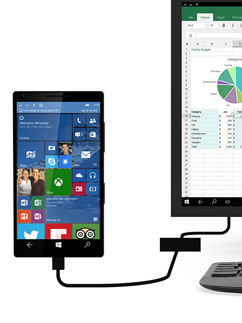 Continuum will turn your Windows 10 phone into a desktop PC