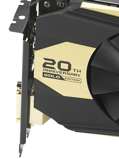 ASUS unveils its 20th anniversary gold edition GTX 980 graphics card
