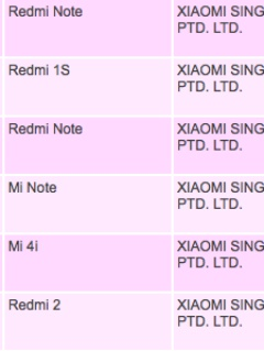 Xiaomi Mi 4i and Mi Note listed on IDA's website, imminent launch in Singapore?