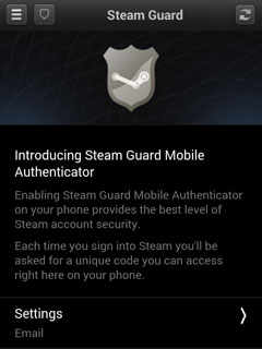 Steam testing two-factor Steam Guard authentication via mobile app