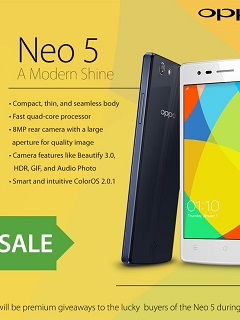 Oppo Neo 5 will go on Sale this month