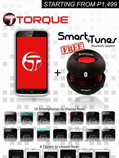 Torque bundles Smartphones and Tablets with Smart+Tunes Bluetooth Speaker