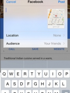 The iOS version of Google Maps now allows location sharing on Facebook