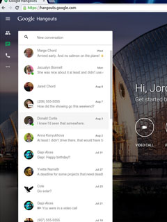 Google Hangouts now has its own page
