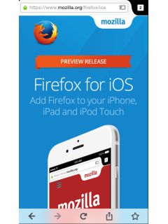 Firefox arrives on the iOS