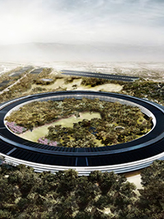 Listen to Steve Jobs narrate your aerial tour of the new Apple Campus