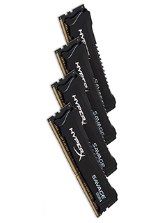 Kingston's HyperX Savage DDR4 modules are now available for Skylake setups