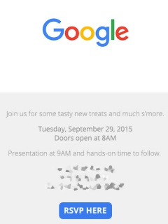 Google sends out invitations for event on 29 Sep, promises