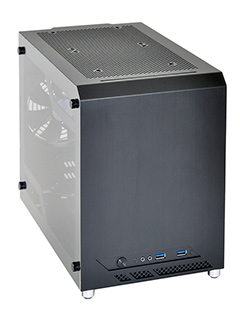 Lian-Li launches PC-Q10WX, mini-ITX case with all-glass side panel and water-cooling support