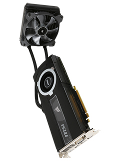 MSI, Corsair team up for MSI GeForce GTX 980 Ti Sea Hawk, combines air and liquid cooling
