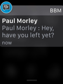 BlackBerry Messenger (BBM) now available on the Apple Watch