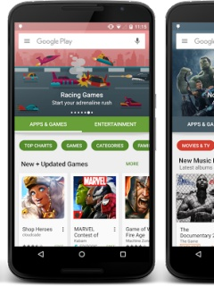 Here's a sneak preview of the new layout for Google Play Store