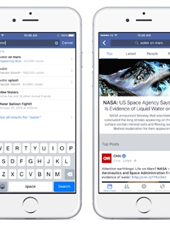 Facebook wants to be the go-to site for breaking news with its updated search function