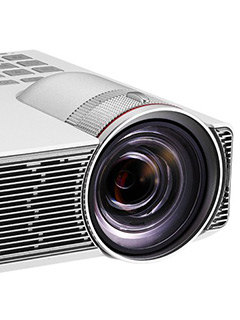 The ASUS P3B is a portable 800-lumen projector with a built-in 12,000mAh battery