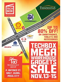 Techbox to hold mega sale in their HQ between November 13 to 15