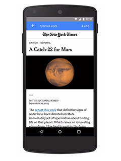 Google's version of Facebook's Instant Articles will arrive in early 2016