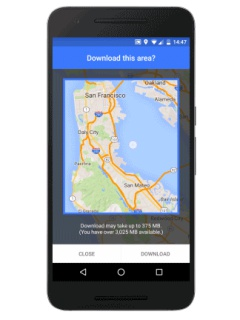 Google Maps for Android now allows for offline navigation, coming soon to iOS