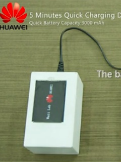 Huawei's prototype phone battery can recharge to half capacity in five minutes