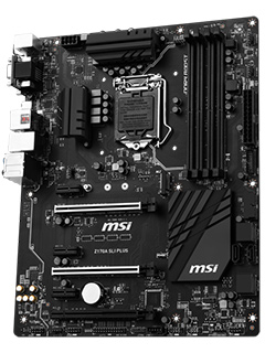 MSI's new Z170A SLI Plus board oozes stealth with an all-black design
