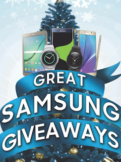 The Great Samsung Giveaways promotion begins November 6