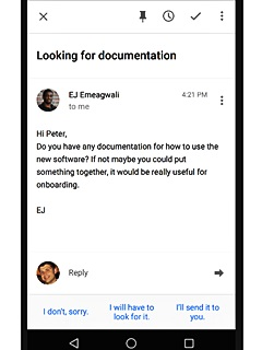 Google Inbox users can look forward to automated email replies on their mobile devices