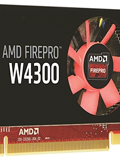Reclaim workstation real estate with the new, low-profile AMD FirePro 4300 graphics card!