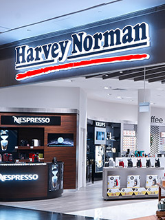 Harvey Norman's flagship store at Millenia Walk is big, pretty, and filled with gizmos