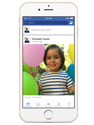 Apple's Live Photos now compatible with iOS Facebook app