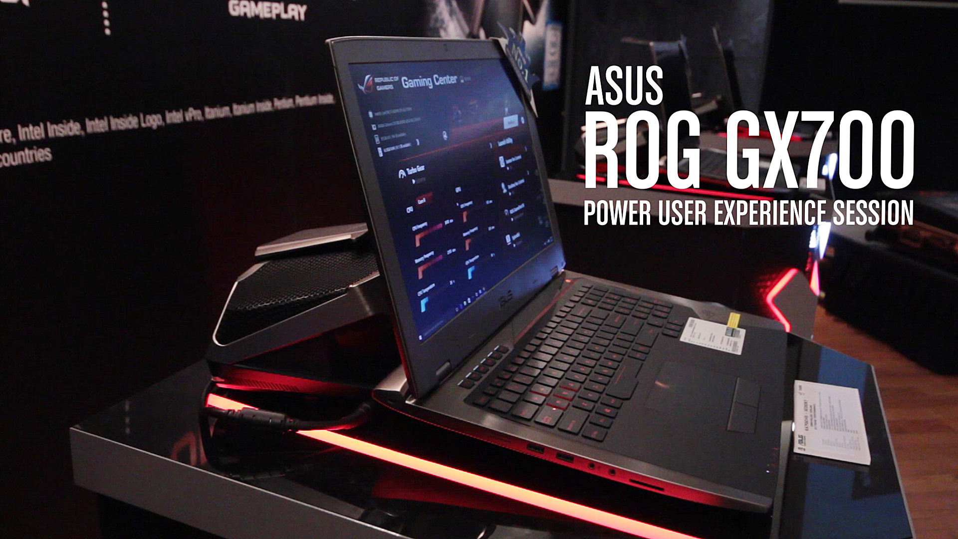Get up close with ASUS ROG GX700, the world's 1st gaming notebook with liquid-cooling!