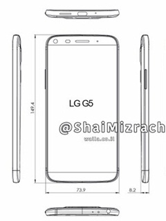 Leaked diagram indicates LG overhauling the design of the G5 smartphone