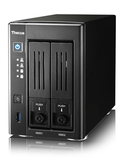 "Thecus equips the N2810 NAS with an Intel ""Braswell"" Celeron SoC, capable of 4K video playback"